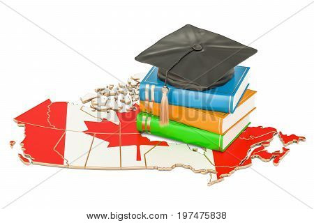 Education in Canada concept 3D rendering isolated on white background