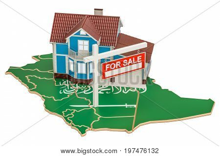 Property for sale and rent in Saudi Arabia concept 3D rendering