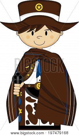 Cute Poncho Cowboy