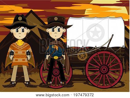 Cute Cowboys & Chuck Wagon