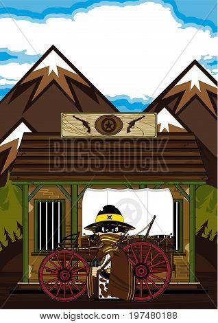 Cowboy, Wagon & Jailhouse