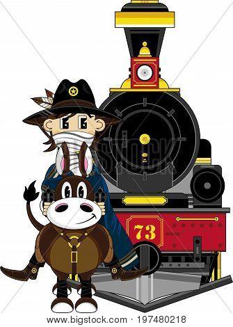 Cowboy Train & Horse.eps