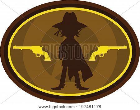 Cowboy Silhouette 1.eps