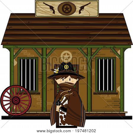Cowboy Sheriff Jail Scene.eps
