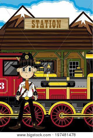 Cowboy Sheriff At Station
