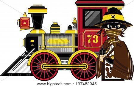 Cowboy Outlaw & Train.eps