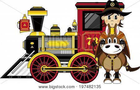 Cowboy Horse & Train.eps