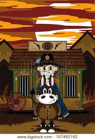 Cowboy Horse & Jailhouse