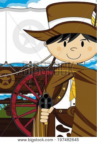 Cowboy And Chuck Wagon
