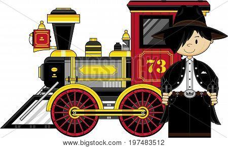 Cowboy & Wild West Train.eps