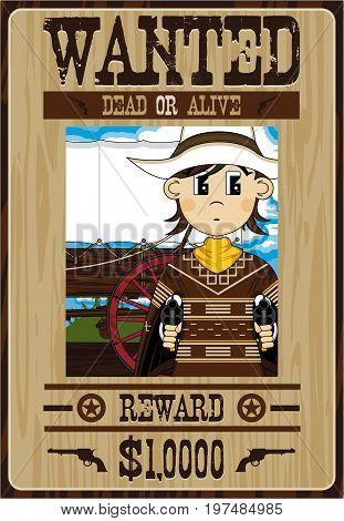 Cool Cowboy Bandit Poster