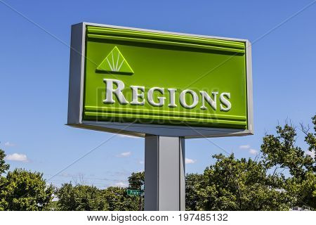 Indianapolis - Circa July 2017: Regions Financial Corporation. Regions is the only member of the Fortune 500 headquartered in Alabama VI