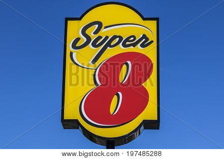 Indianapolis - Circa July 2017: Super 8 Motel. Super 8 is a Subsidiary of Wyndham Worldwide II