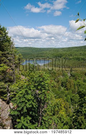 View from Oberg Mountain Tofte Townschip Minnesota