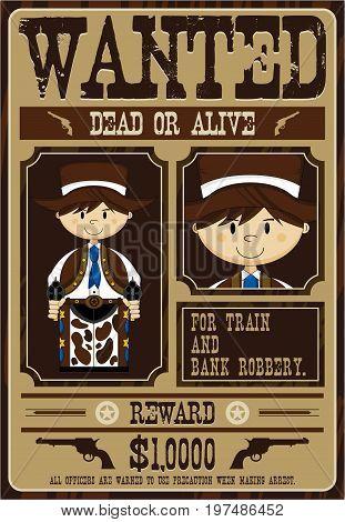 Cute Western Cowboy Poster