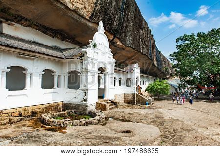 Dambulla cave temple also known as the Golden Temple of Dambulla is a World Heritage Site in Sri Lanka.