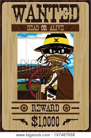 Mini Cowboy Bandit Poster