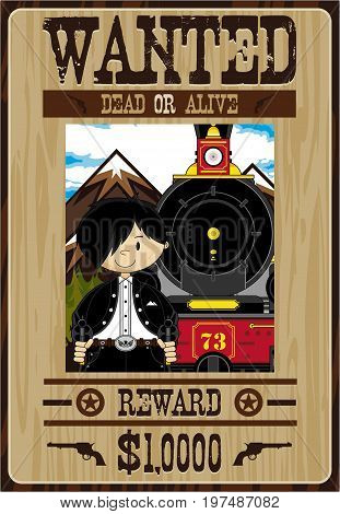 Cowboy Train Robber Poster