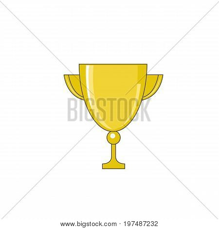 Gold trophy on white background Gold trophy on white background