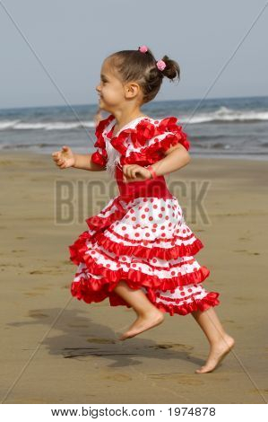 Happy Child Running
