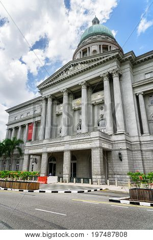 Facade Of The National Gallery Singapore
