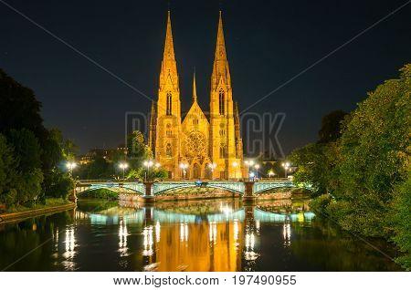a Saint Paul's Church in a Strasbourg