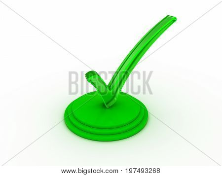 Transparent green check mark on group of edged circles.
