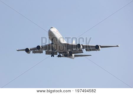 Hs-stb Boeing 747-400 Of Orient Thai Airline Low-cost Airline