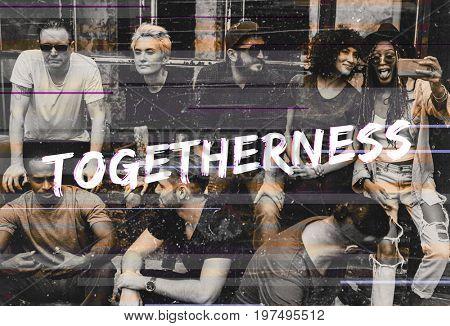 Diversity Group of Friendship Togetherness Society Socialize
