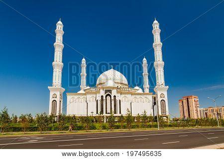 Hazrat Sultan Mosque in Kazakhstan, Astana city