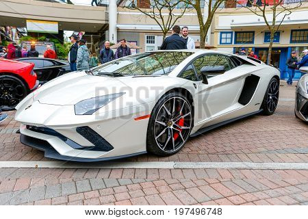 Redmond, Wa - April 29, 2017: Exotic Car Show At Redmond Town Center