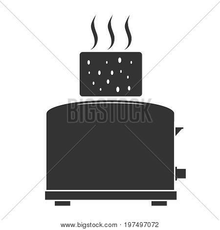 Icon toaster toaster and toast. Flat design vector illustration vector.