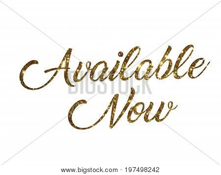 Golden Glitter Of Isolated Hand Writing Word Available Now