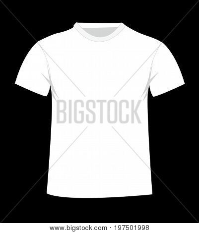 T-shirt template. Front illustration art design on black background