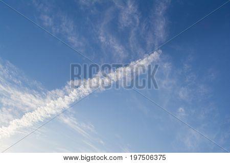 Unusual Cloud Formation: Cumulus Or Chemtrail?