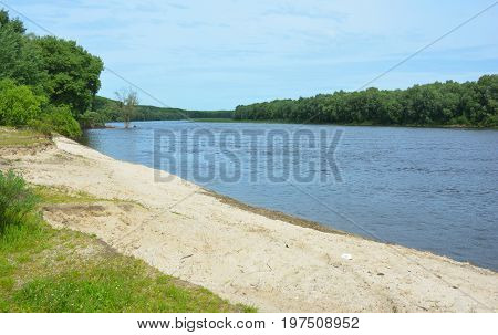 Desna river is a left tributary of the Dnieper river in northern Ukraine.