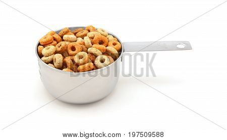 Multigrain Hoops Breakfast Cereal In A Measuring Cup