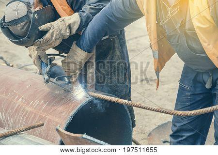 Welding Teamwork, Workers Welding 2