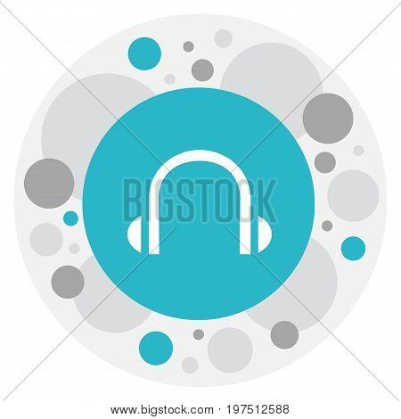 Vector Illustration Of Bureau Symbol On Headphone Icon