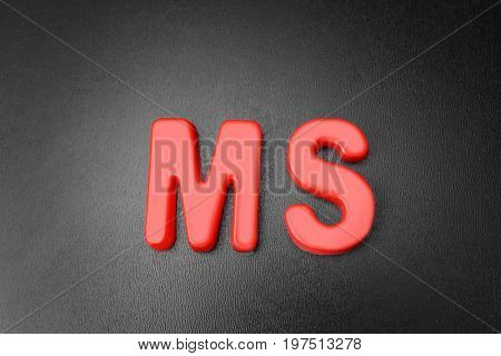 Abbreviation on blackboard. Management concept