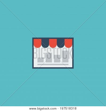 Flat Icon Market Element. Vector Illustration Of Flat Icon Monitoring Isolated On Clean Background