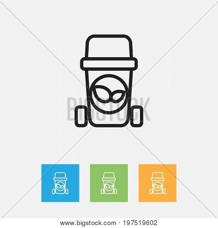 Vector Illustration Of Hygiene Symbol On Waste Outline