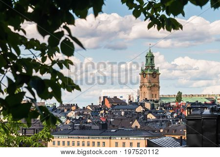 View Over Gamla Stan (old Town) With Great Church (storkyrka) In Stockholm, Sweden