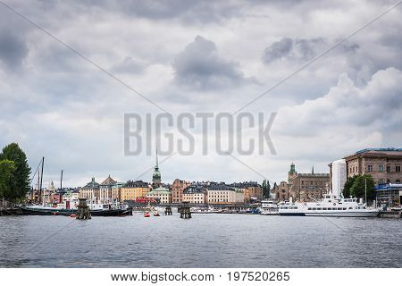 View Over Gamla Stan (old Town) District In Stockholm, Sweden