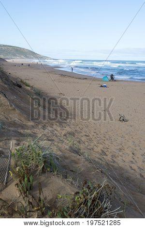 Holiday Makers Surf Fishing, Waitpinga, South Australia