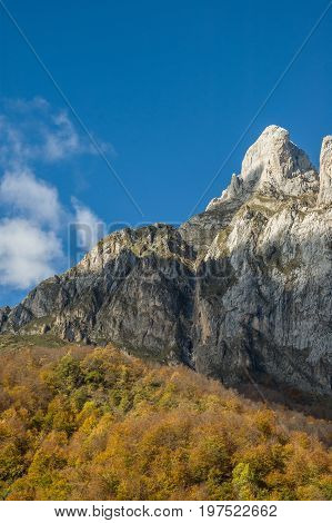 Mountain peak in Fuente De Cantabria Spain