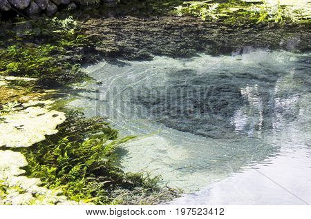 Sulphurate sulphur mine under the water Bali Udud
