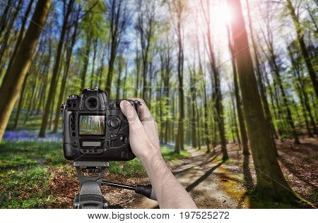 Hand Holding A Professional Camera