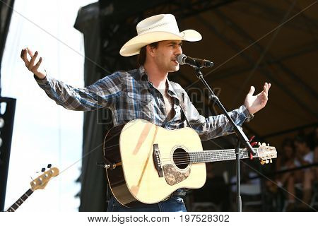 TWIN LAKES, WI- JUL 22: Singer William Michael Morgan performs during Country Thunder Music Festival on July 22, 2017 in Twin Lakes, Wisconsin.