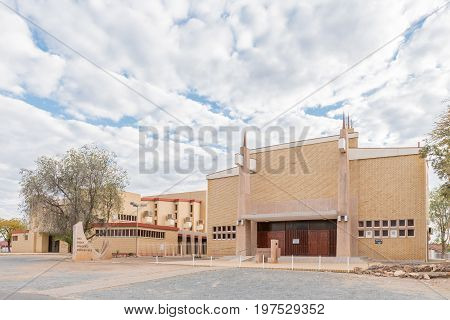 WINDHOEK NAMIBIA - JUNE 18 2017: The Dutch Reformed Church Pionierspark in Windhoek the capital city of Namibia